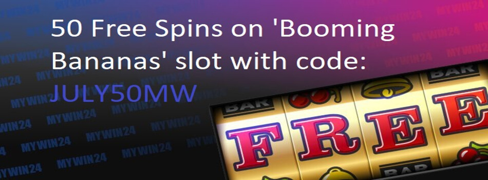 MyWin24 50 Free Spins No Deposit